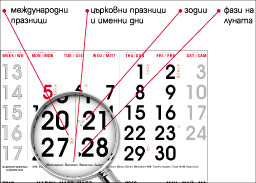 Information included in Executive wall compact calendars
