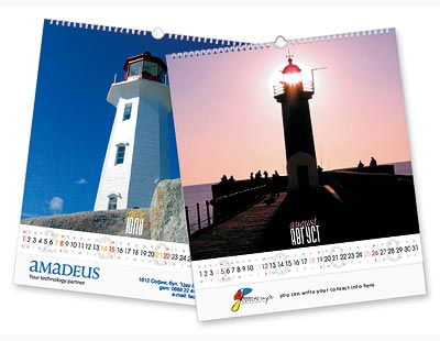 Wall calendars with 12 pages, size 32.5x37.3 cm